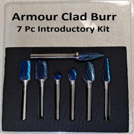 Carbide Burr Kit Armour Clad 7 Pieces